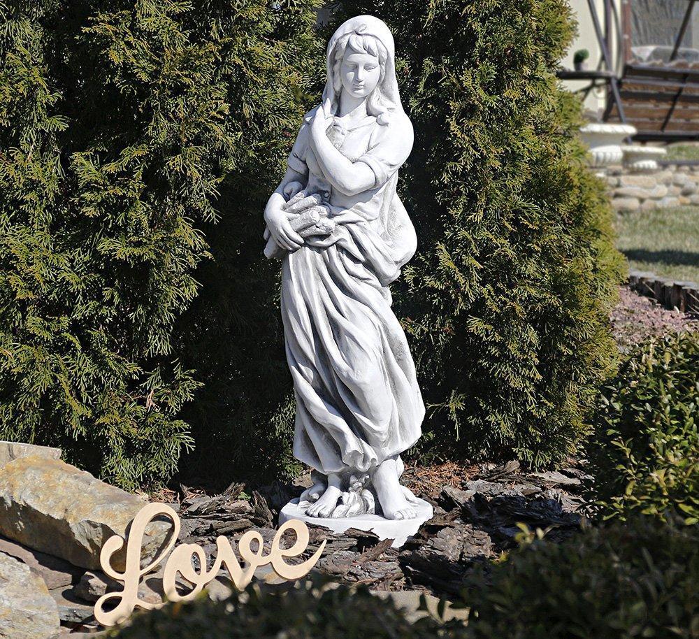 Садовая фигура скульптура для сада Богиня зимы 25x24x83cm SS12040-22 статуя зима