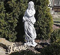Садовая фигура скульптура для сада Богиня зимы 25x24x83cm SS12040-22 статуя зима, фото 1