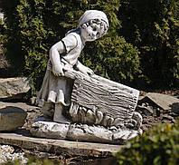 Садовая фигура скульптура для сада Девушка с тележкой 45*24*51cm SS0691080-58 статуя