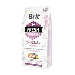 Cухой корм для щенков Brit Fresh Chicken Potato Puppy Healthy Growth курица и картофель 2.5кг (170988)