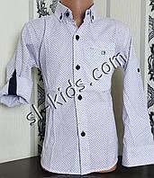 Стильна сорочка для хлопчика 116-146 см(опт) (белая01) (пр. Туреччина)