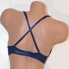 Женский комплект нижнего белья двойной пуш ап Balaloum Балалум 9301 синий, фото 5