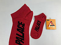 Носки в стиле Palace низкие красные