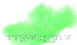 Перья  салатовые 100 шт./ упак. (10-15 см) натуральные для декора и воздушных шаров