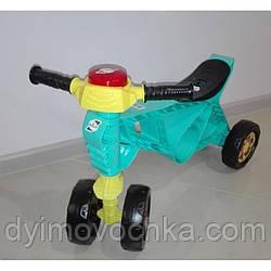 Детский беговел Орион 188, четырехколесный, мотоцикл, бирюзовый