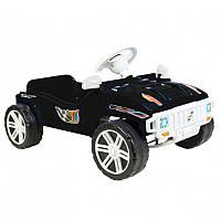Машинка-толокар ПЕДАЛЬНАЯ чёрная ОРИОН 792 (800x510x310 мм)
