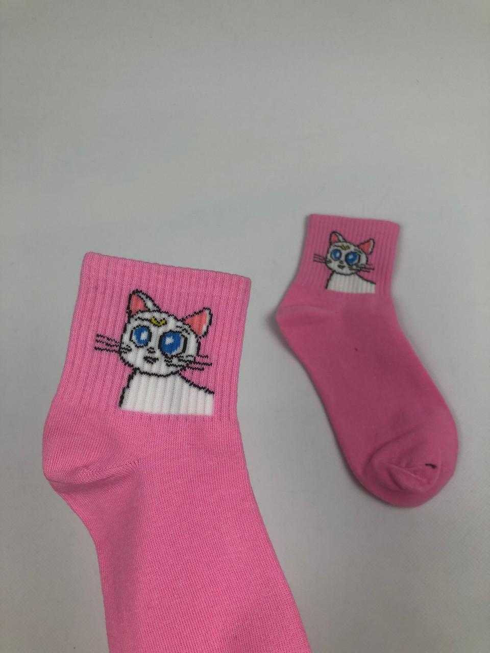 Носки More than dope средние Кошка Сейлор Мун розовые