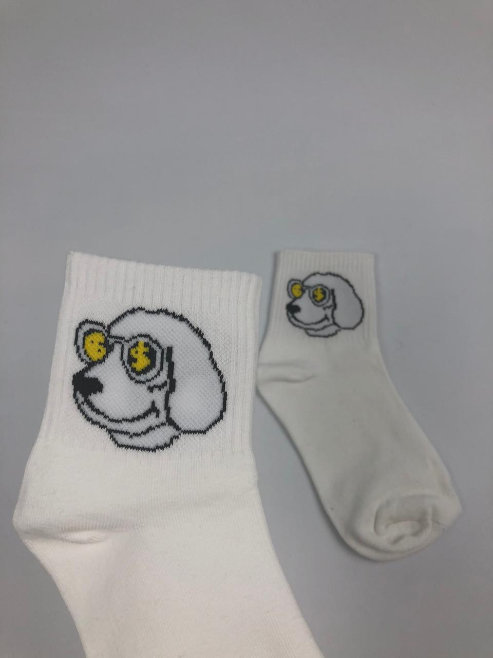 Носки More than dope средние Собака белые
