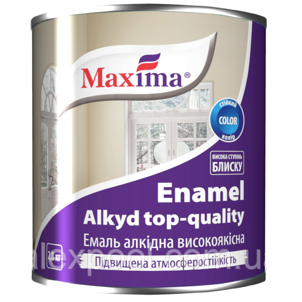 Maxima Эмаль алкидная высококачественная Вишневый 2,8 кг