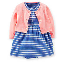 Детское платье-боди с кардиганом Carters. 18, 24 месяца