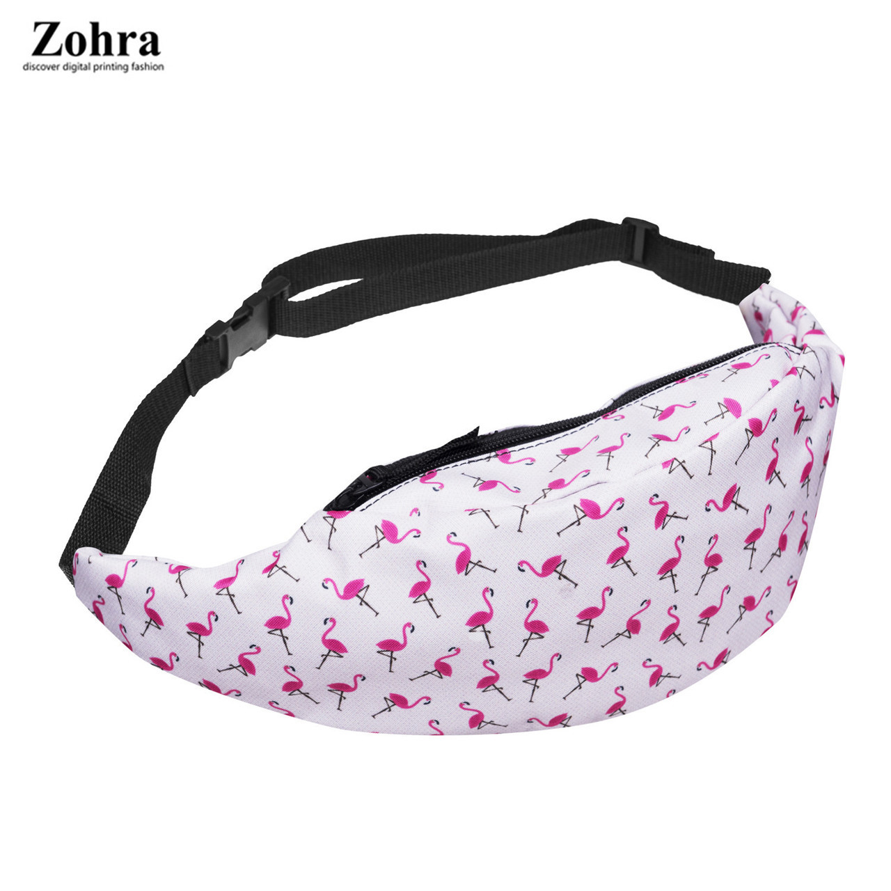Поясная сумка в стиле Zohra Фламинго белая