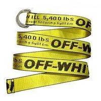 Ремень на пояс в стиле Off-White желтый 125см, фото 1