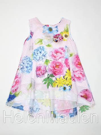 Платье летнее нарядное Camilla розовое Италия 13107
