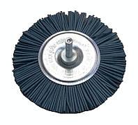 """Щетка абразивная """"Пиранья"""" для дрели 75 мм. синяя р180 боковая"""