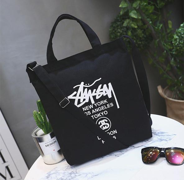 a142cdbba8ae Сумка шоппер в стиле Stussy черная - купить по лучшей цене в ...