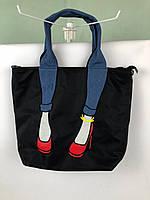 Сумка шоппер Miss Zapatos черная,темные джинсы, фото 1