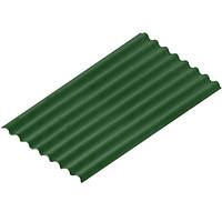 Onduline Лист битумный Ондулин Diy 2000х760 мм зеленый Цвет: зеленый