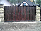 Откатные ворота - зашивка дерево