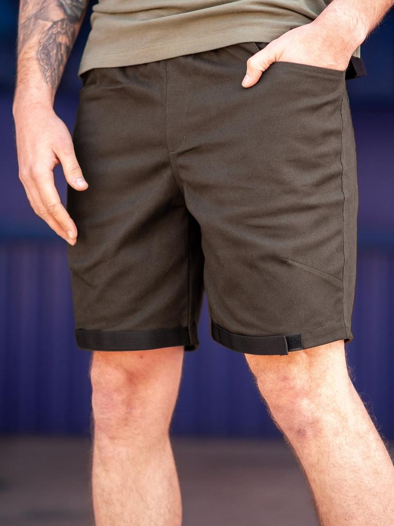 Мужские повседневные шорты BEZET Easy khaki '19, мужские карго шорты хаки, хаки карго шорты