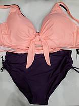 Купальник на большую грудь персиковый 3926 на 58 размер., фото 2