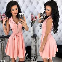 Женское летнее легкое платье костюмка 42-48 размеров, 4 цвета