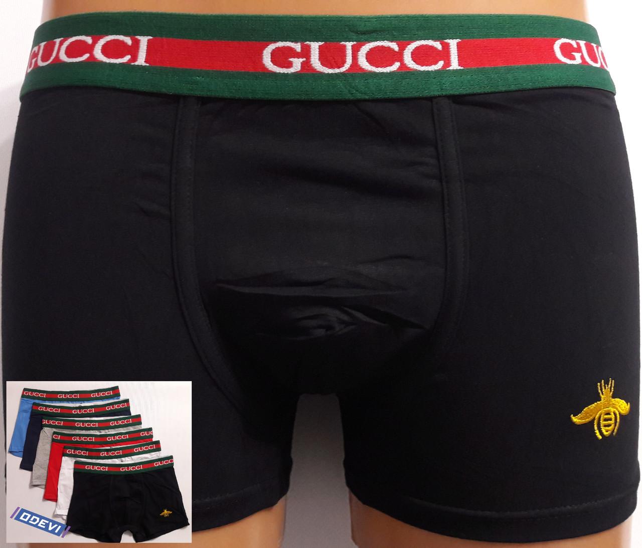 Копия трусов Gucci хлопок фабричный Китай чёрный цвет