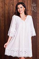 Хлопковое летнее платье белого цвета , фото 1