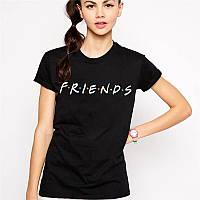 Футболка чорна   Friends logo