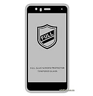 Защитное стекло 5D Full Glue для Huawei P10 Lite Black (Screen Protector 0,3 мм)