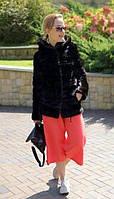 Шуба норковая с капюшоном, поперечка. Модель 2000010, фото 1