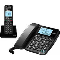 Проводной телефон + Радиотелефон ALCATEL S250 Combo Black (ATL1418958)