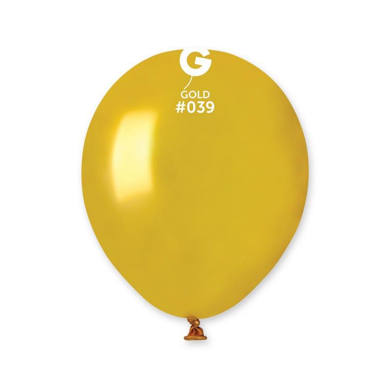 Воздушные шарики металлик золото Gemar Италия 13 см 100 шт