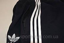 Штаны спортивные трикотажные - 3 белые полосы, фото 3