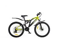 "Велосипед 24"" OPTIMABIKES MESSER AM2 DD St черно-зелен. 2014"