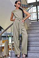 ✔️ Комбінезон жіночий брючний 42-48 розміру бежевий, фото 1