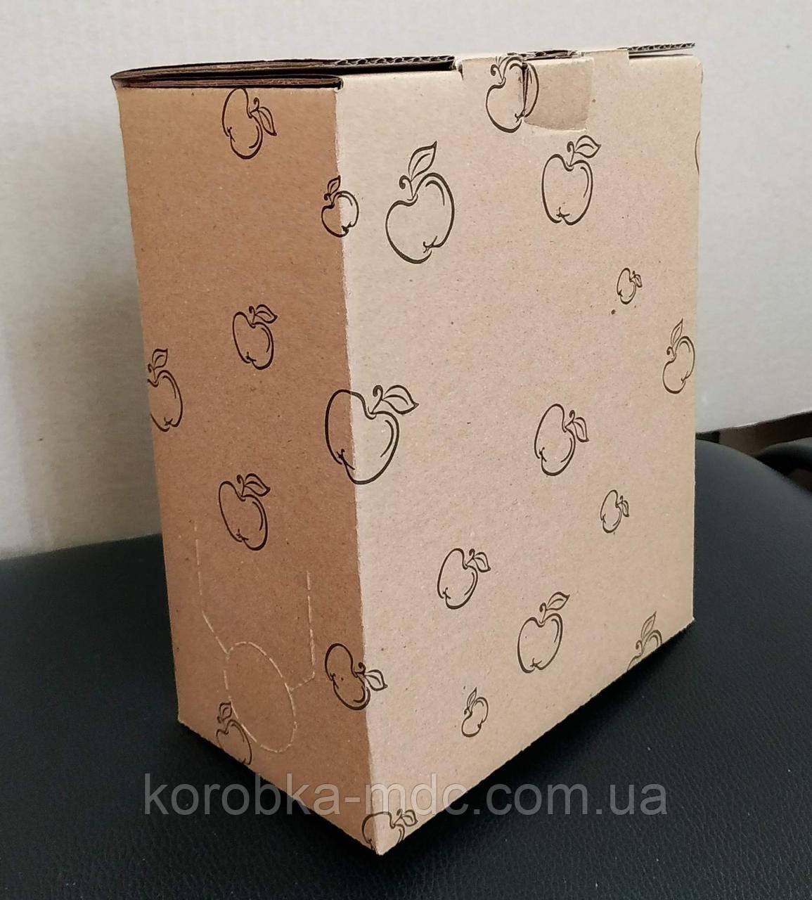 """Коробка 3 л """"Яблуко""""  печать 1 цвет"""
