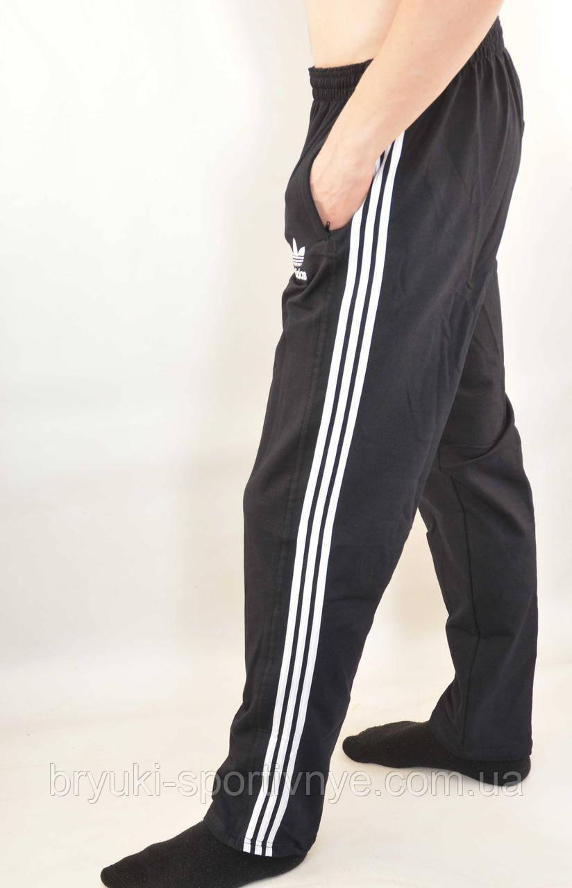 Штаны спортивные трикотажные - 3 белые полосы