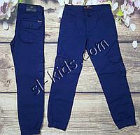 Котоновые штаны,джоггеры для мальчика 6-10 лет(синие) розн пр.Турция