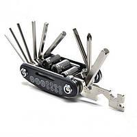Набор инструментов для ремонта велосипеда 16 в 1, фото 1