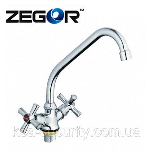 Смеситель для кухни ZEGOR (DFR4) TZH-722 (Зегор)