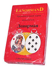 Предсказательные карты мадемуазель Ленорман, Голубая Сова (Lenormand), красные (Украина)