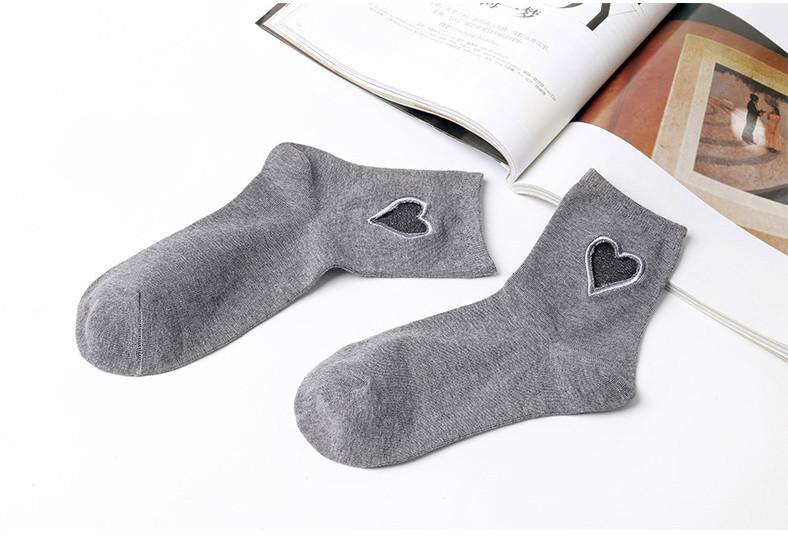 Носки Сердце Mr Soxera с вырезом - Средние
