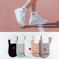 Носки Cotton Sox Сердце - средние - серые