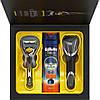 Мужской подарочный набор Gillette Fusion Proshield с сменной кассетой гель для бритья Fusion Proglide Sensitiv, фото 2