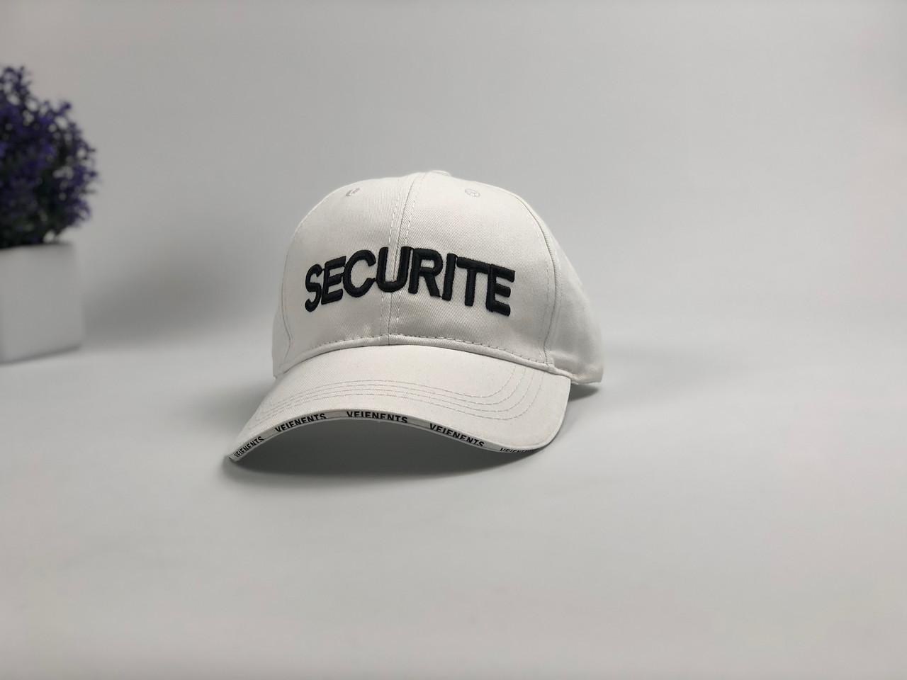 Кепка бейсболка Security (біла)
