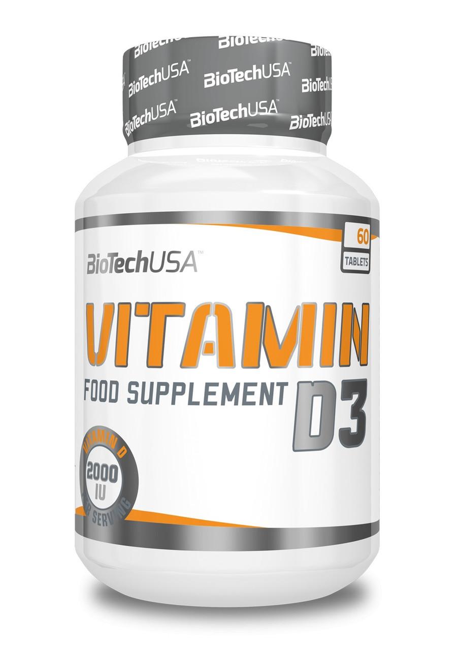 BioTech Vitamin D3 50 mcg 60 tabs