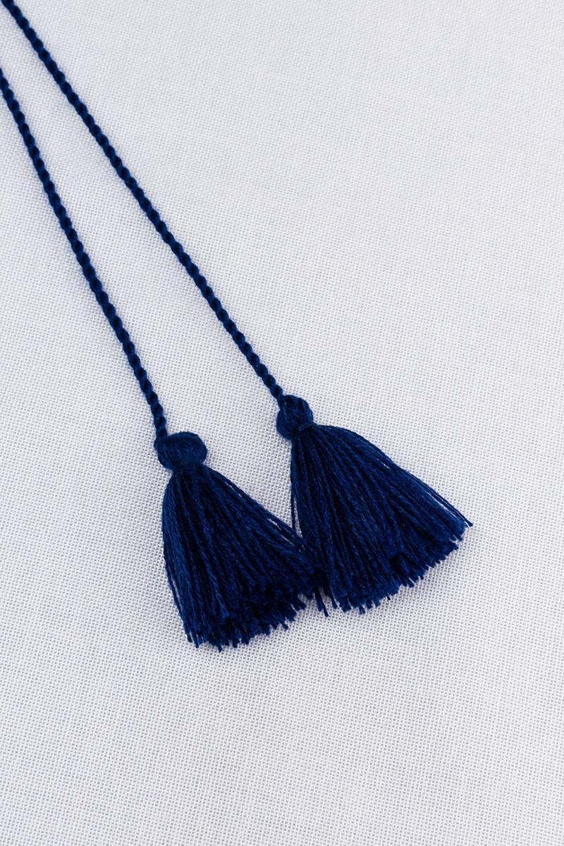 Китиці для вишиванки (темно-сині)