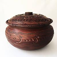 Шашлычница 6,0л из красной глины