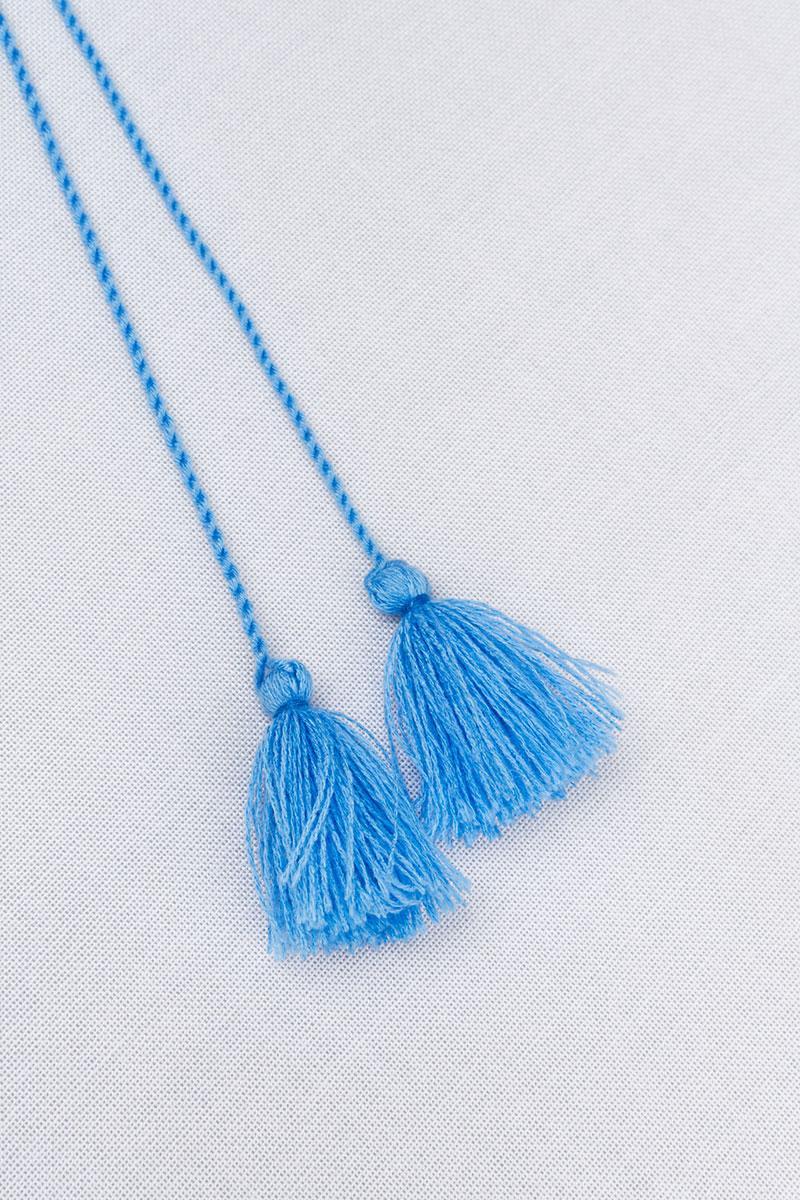 Китиці для вишиванки (блакитні)