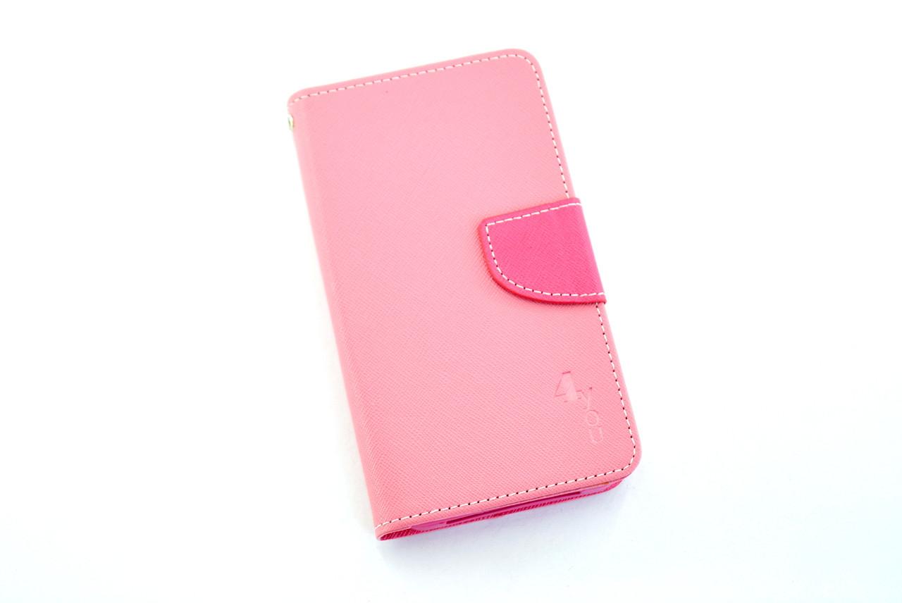 """Чехол-книжка 4you Fancy 4,8""""-5,2"""" SLIDER pink/crimson универсальная"""